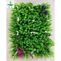 背景墙绿化装饰人造草皮,时宽批发植物墙体景观草皮,加密绿叶子仿真植物