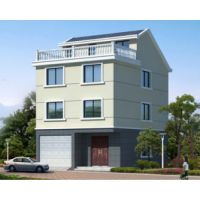 九江别墅设计AT1776三层半带车库简洁实用自建房屋全套施工图纸8mX11.2m