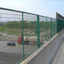 河源铁路桥下防护栅栏 佛山带框浸塑护栏网 江门轻轨镀锌网