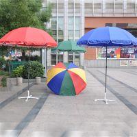 厂家供应双股筋太阳伞广告伞户外摆摊促销宣传大遮阳伞