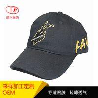 全棉字母金线刺绣软顶棒球帽定做 男女士户外百搭贴头鸭舌帽工厂