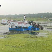 池塘水葫芦收割设备供应 打捞水藻船厂家供应