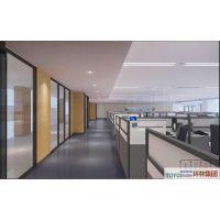 组合式钢质办公隔断墙,办公室玻璃百叶隔断,办公室防火钢质隔断