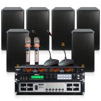 会议设备厂 狮乐S62B/BX112/SH10大型会议室音响调音台功放话筒套装 多功能厅音箱设备