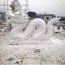 石雕龙 汉白玉广场生肖龙摆件 大理石吐水龙头曲阳万洋雕刻厂家现货加定做