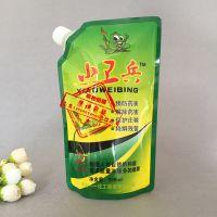 东莞厂家订做500毫升液体树木抗病液吸嘴自立袋4公斤水溶肥料包装袋