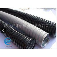 JSH黑灰色国标阻燃包塑金属软管绝缘穿线蛇皮管电线电缆保护套管-开外尔