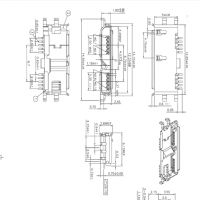 MICRO 3.0沉板10P母座沉板0.75四脚90度插板DIP+SMT卷边