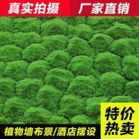 仿真苔藓草皮植绒青苔石植物墙配件假草皮青苔草皮植物墙草坪批发