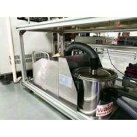 打磨车间工位配套吸尘器 吸铁粉铜粉铝屑用工业吸尘器 380V固定式威德尔吸尘器