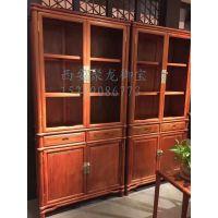西安仿古老榆木书柜、中式实木书架、红木书柜、定制厂家