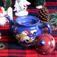 陶瓷彩绘圣诞佛具创意摆件香炉工艺品香薰精油檀香蜡烛 厂家批发