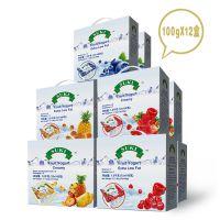 多美鲜全脂 脱脂果粒酸奶礼盒樱桃果粒覆盆子果粒12*100g德国进口