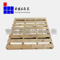 松木托盘黄岛厂家生产标准尺寸二面进叉熏蒸证明木托盘