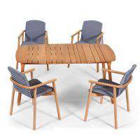 酒店户外实木桌椅图片