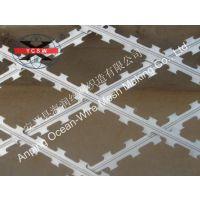 厂家供应直销誉诚不锈钢镀锌篱笆式蛇腹网,防护绳网