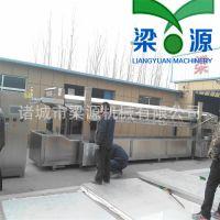 全自动304不锈钢花生油炸流水线/青豆油炸生产线找梁源专业生产