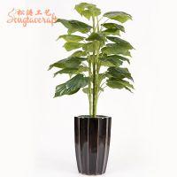 厂家直销仿真滴水观音 办公室室内塑料植物 落地仙芋盆栽