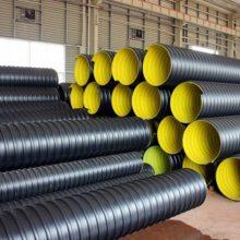河南周口钢带增强波纹管,承插式PE排污管