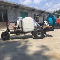林口县手推式菜园打药机 启航大容量自走式喷雾器 果园风送喷药机厂家