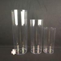 婚庆道具亚克力路引花瓶直筒花瓶透明亚克力摆花花瓶塑料花瓶