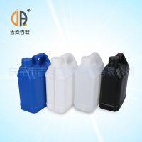 供应HDPE耐酸碱2L化工罐 包装塑料罐 2kg扁罐 厂家直销