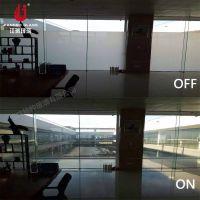 厂家直销 智能调光玻璃 高档办公室雾化玻璃隔断 通电透电断电雾化