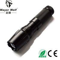 厂家批发 l2强光手电筒 强光变焦led充电手电筒 户外照明防身用品