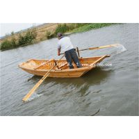 纯手工制作小木船 钓鱼观光船 中式休闲船 仿古手划船 楚风供应