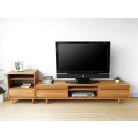 现代简约电视柜白橡木电视柜实木地柜小户型地柜