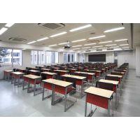 课桌椅 学生学习桌椅定制 众晟家具板式培训学习课桌批发厂家