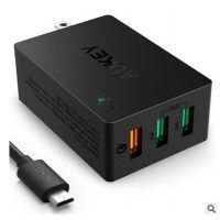 AUKEY PA-T14 高通QC3.0充电器 3口USBIP充电器多功能