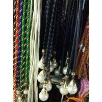 珍珠吊坠手编麻花辫绳带衣帽配饰头饰腰饰