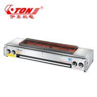 伊东厂家 KF03无烟烧烤 炉子1.2米 不锈钢加厚烤肉机 加长烤生蚝烤羊肉带风机