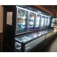 徽点冷柜双温展示柜,超市酒水饮料冷藏,冷冻肉类食品子母柜