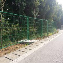中山公路隔离栏 开发区绿色围护网 金属护栏 江门焊接金属网护栏