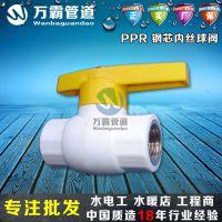 开源厂家销售 PPR全塑双活接球阀 全塑热熔焊接球阀 PPR管材管件