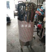 清泽蓝专业生产 正宗304不锈钢保安袋式滤器 快开法兰1号多袋式过滤器