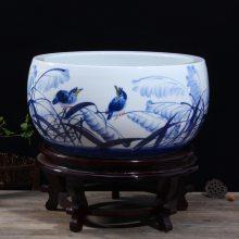 景德镇陶瓷鱼缸直销 养金鱼缸乌龟睡莲荷花盆图片