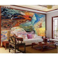 宾馆酒店背景墙纸3D壁画客厅沙发背景墙无缝墙布大堂背景墙壁画