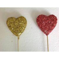 外贸出口 情人节礼品 心形插支 挂件 情人节装饰品 复活节装饰品