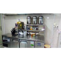 奶茶水吧全套设备 一整套奶茶机器设备要多少钱 冷藏柜工作台