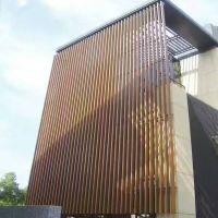 铝方通吊顶 纯色木纹铝方通 室内铝天花