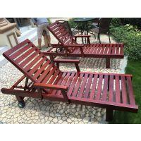海南长期批发零售印尼山樟木沙滩椅 菠萝格户外躺椅