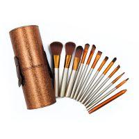 kainuoa/凯诺工厂批发12支化妆刷套装 印花桶装化妆工具