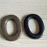 厂家生产各种吸塑皮耳套 高周波热压成型耳机套 量大价优