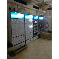 厦门灯具展示柜,板式展柜,烤漆展柜,实木展柜,铁件展柜,灯饰展示架定做工厂