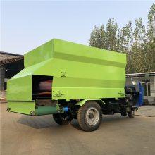 环保绿色电动撒料车 大型养殖场投喂车 润华厂新型饲喂车