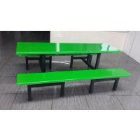 贵州快餐店 平价餐厅 玻璃钢八人短条凳餐桌椅 吃饭用桌子厂家批发