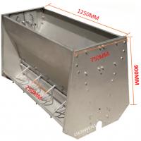 猪用不锈钢料槽双面十孔常用规格喂料器